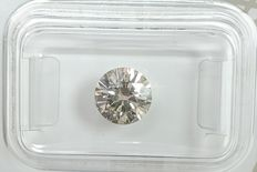 Diamante - 1.35 ct - Redondo - K - SI1, No Reserve Price