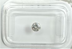 Diamante - 0.24 ct - Redondo - Cinzento claro chique - SI1, No Reserve Price