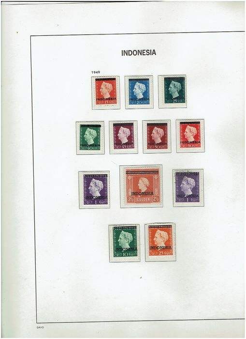 Indonesien - Almost complete collection, from early though 1984