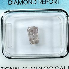 Diamante - 1.04 ct - Heptágono, corte de passo - Natural Fancy Light Pink - I2 - NO RESERVE PRICE