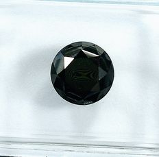 Diamante - 1.43 ct - Brilhante - Black - NO RESERVE PRICE