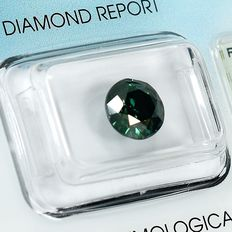 Diamante - 2.00 ct - Brilhante - Fancy Deep Green - I1 - NO RESERVE PRICE