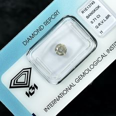 Diamante - 0.71 ct - Brilhante - Q-R,Very Light Brown - I1 - NO RESERVE PRICE