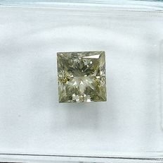 Diamante - 1.02 ct - Princesa - S-T,Light Grayish Brown - I1 - NO RESERVE PRICE