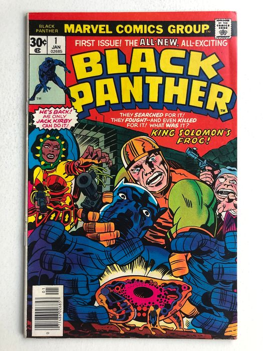 The Black Panther #1 - The Six Million Year Man! - High Grade!!! - Key Book - Softcover - Eerste druk - (1977)
