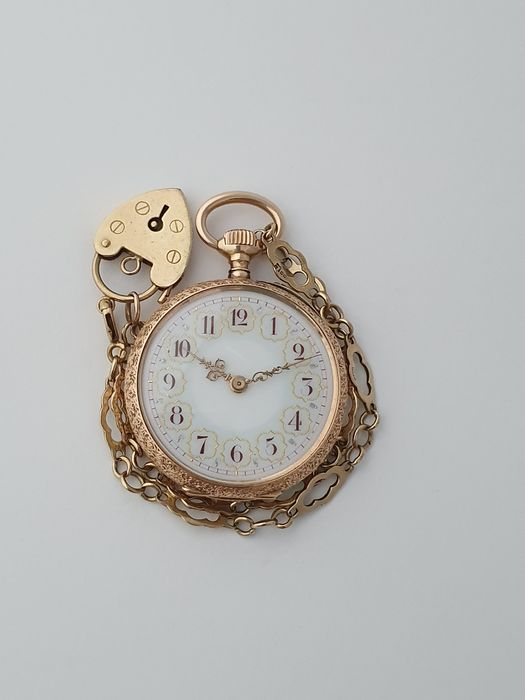 Pocket Watch and Gold Chain - Unisexe - 1850-1900