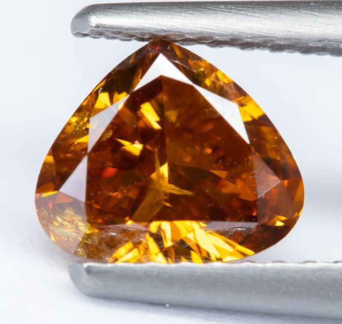 Diamante - 1.04 ct - Naranja natural de lujo VIVID - I1  *NO RESERVE*