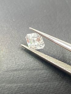 1 pcs Diamond - 0.50 ct - Asscher - E - VVS1
