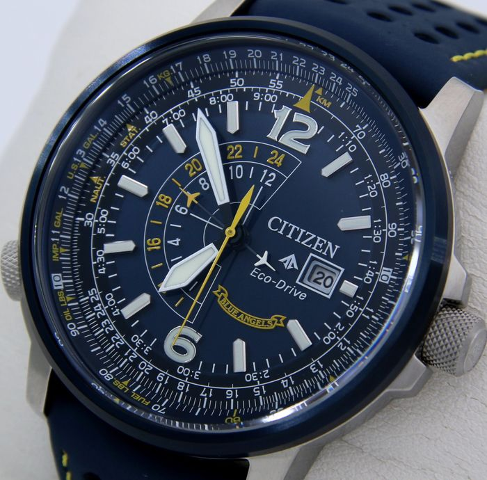 """Citizen - Eco Drive Pilot GMT Leather - Special Edition """"Blue Angels"""" - """"NO RESERVE PRICE"""" - Herren - 2019"""