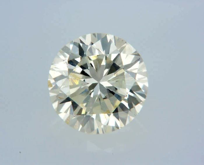 1 pcs Diamante - 0.86 ct - Rotondo - M - VS2