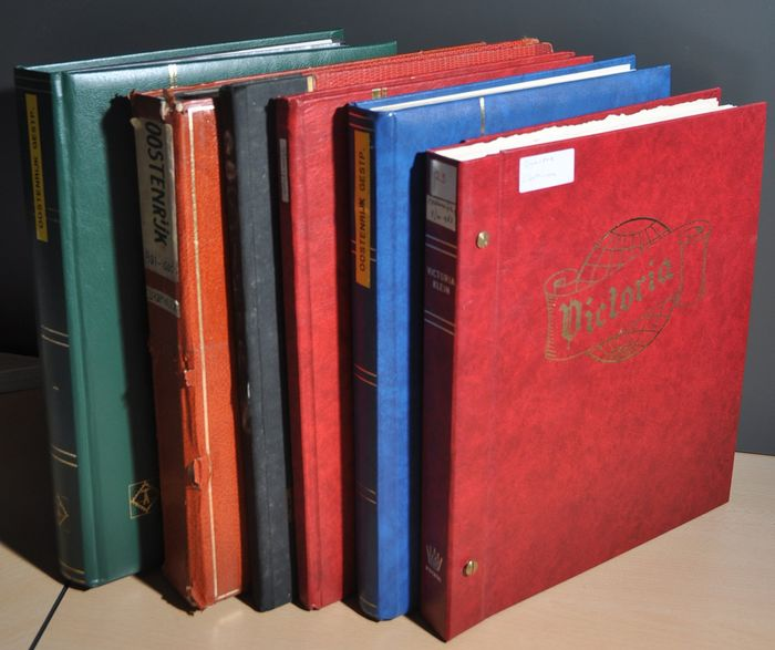 Áustria 1867/1983 - Batch with a collection in a Victoria album and various in stock books