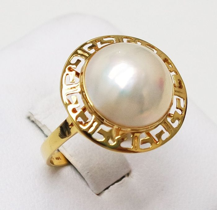Mabe pearl, Yellow gold - Ring Mabe Pearl