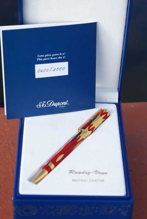"""S.T. Dupont - RARISSIME stylo bille """"Limited Edition"""" RENDEZ-VOUS"""
