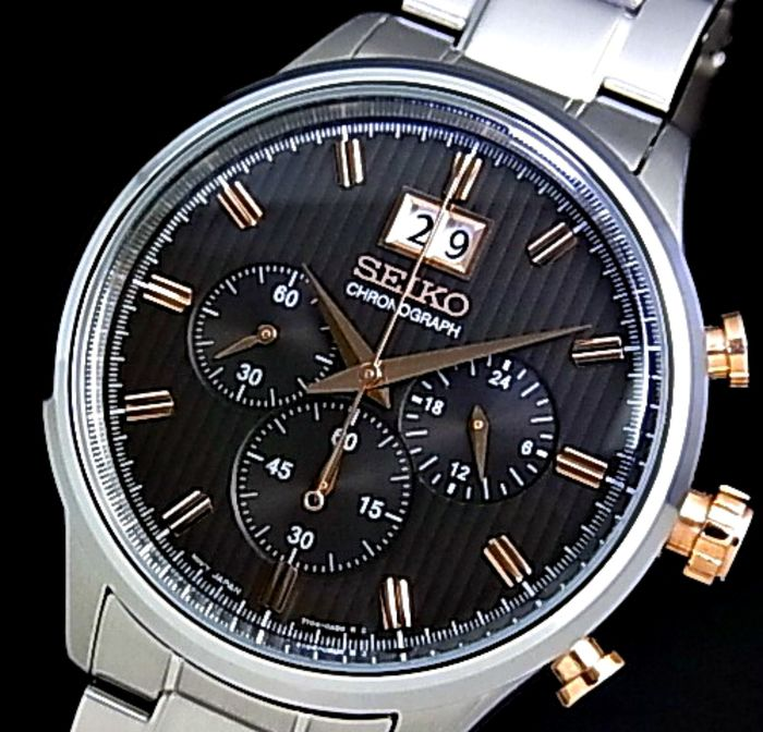 Seiko - Chronograph Grey Dial SPC151 Cal. 7T04 - -2 Years Warranty - Homme - 2018
