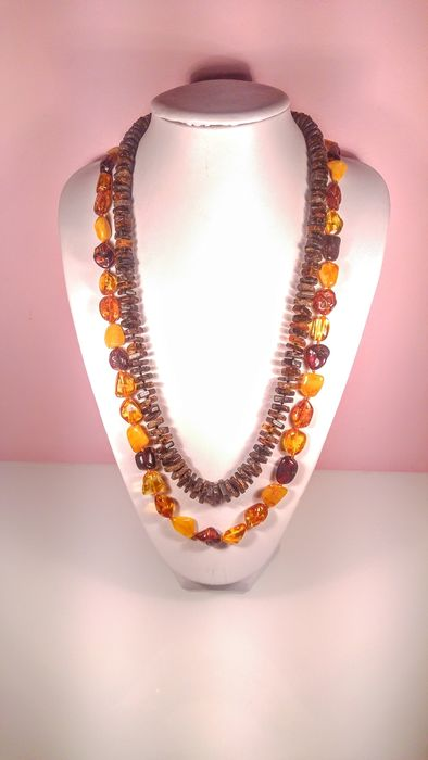 Set Ambre baltique - Collier