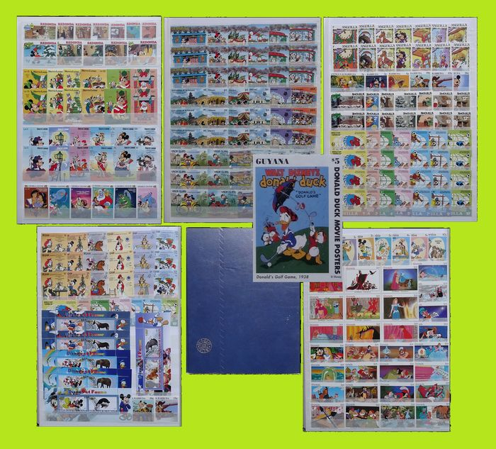 Mundo - Theme: 'Disney' Batch in stock book, hundreds of stamps
