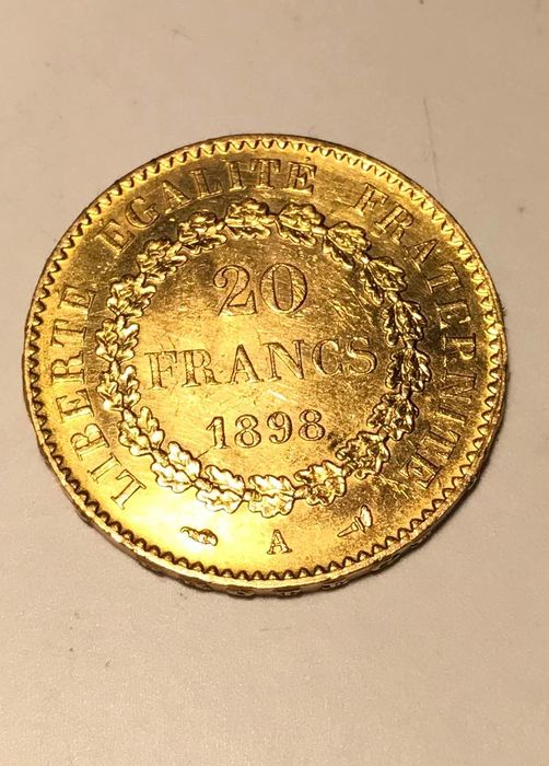 20 Francs 1898 Genius - Or