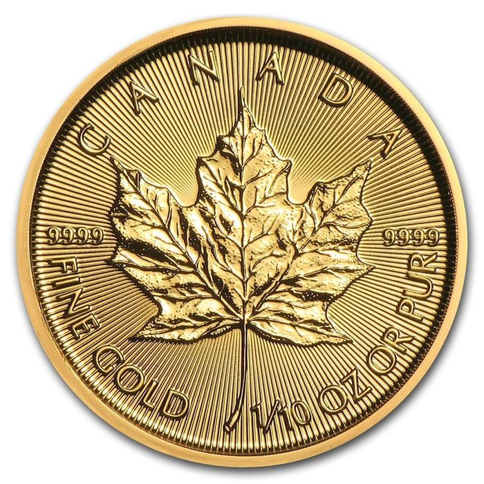 Canada. 15 Dollars 2020 Maple Leaf - 1/10 oz