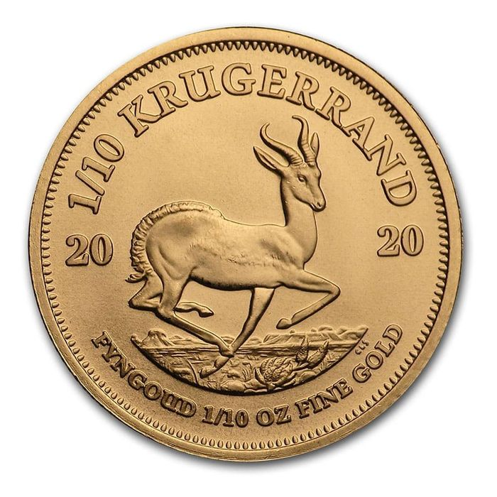 África do Sul - 1/10 Krugerrand 2020 - 1/10 oz Goldmünze - Ouro