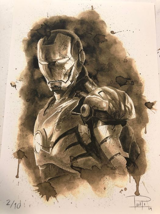 Giclee on watercolor paper 300g (2 of 10) - IRONMAN Coffee Painting - Limited Edition (2019)