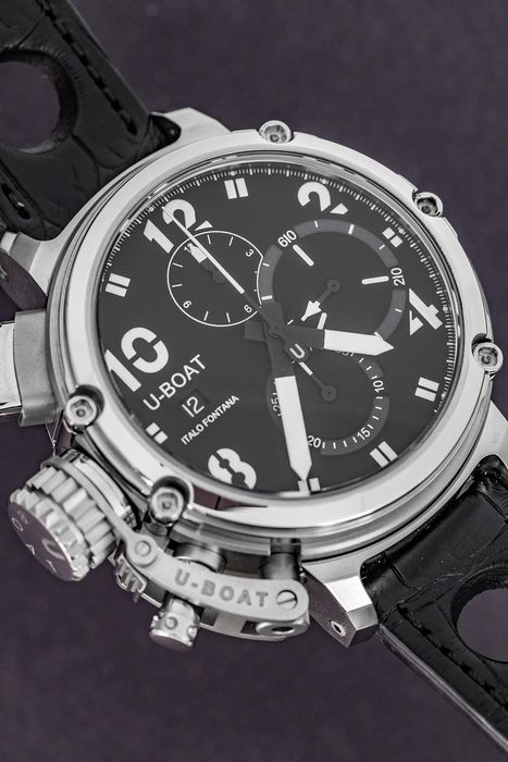 U-Boat - Automatic Chimera 46 Sideview Chronograph Limited Edition 300 Alligator Strap - 8013 - Homme - Brand New