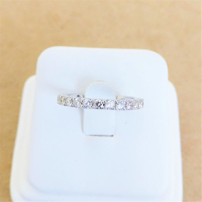 18 kt. White gold - Ring - 0.53 ct Diamond