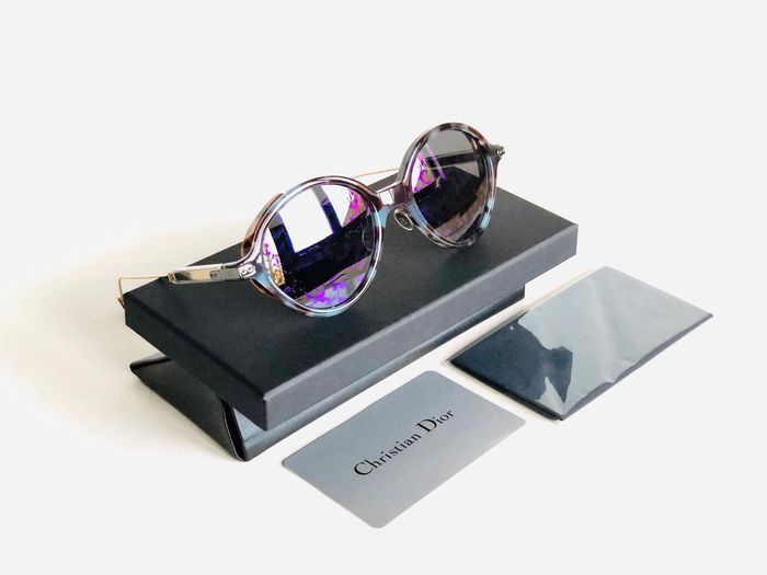 Christian Dior - DIORUMBRAGE-MJN 52, Havana Violet Blue, Mirrored Reflective Floral lenses, *Brand new & Unused Sunglasses