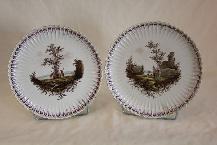 Edme Samson, Paris - A pair of dishes - Porcelaine