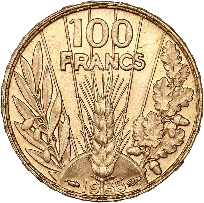 100 Francs 1935 Bazor - Or