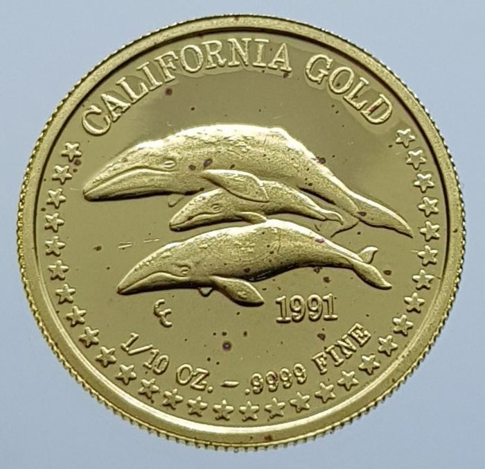 États-Unis - 1/10 Oz. 1991 The great seal of the state of California - Or