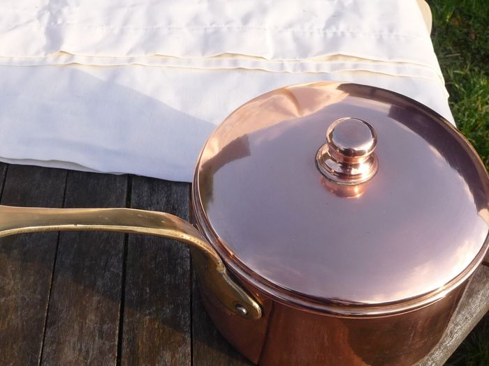 nice pan with lids (1497 g) - Copper