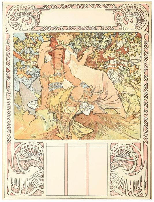 Alphonse Mucha - Ages of Man - Lithographie originale 1900 (1)