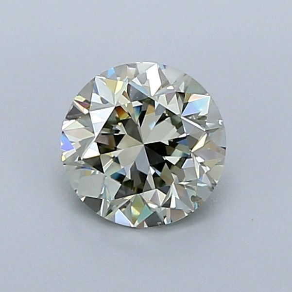 1 pcs Diamond - 1.00 ct - Brilliant - fancy light yellow green - SI2, ***chameleon***