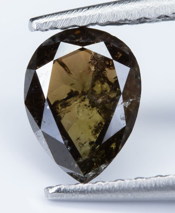 Diamante - 0.63 ct - Natural Fancy DEEP Marrón - I2  *NO RESERVE*