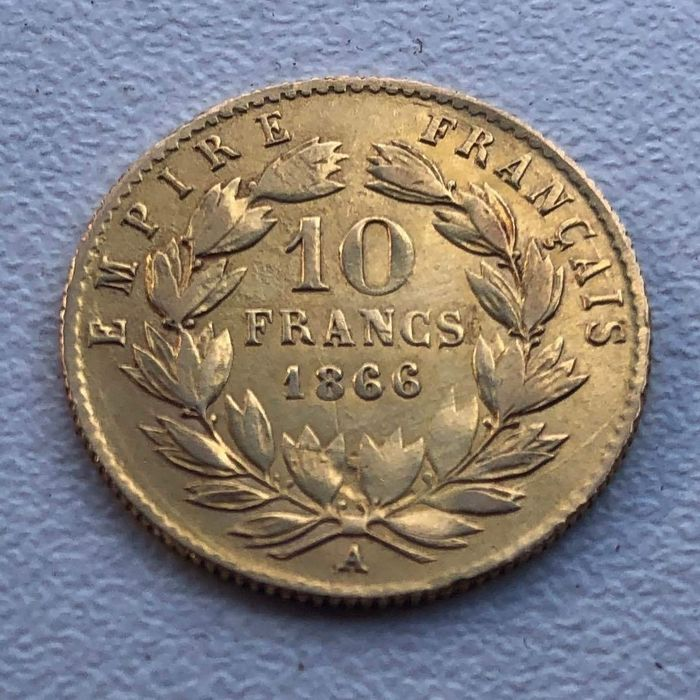 10 Francs 1866-A Napoléon III - Or