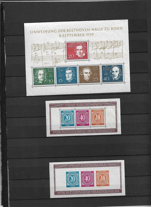 Deutschland - lokale Postgebiete 1937/1959 - Germany before 1946, inter-allied occupation, Federal Germany and DDR