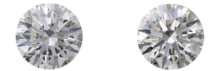 2 pcs Diamantes - 0.80 ct - Redondo - H, I - VS2