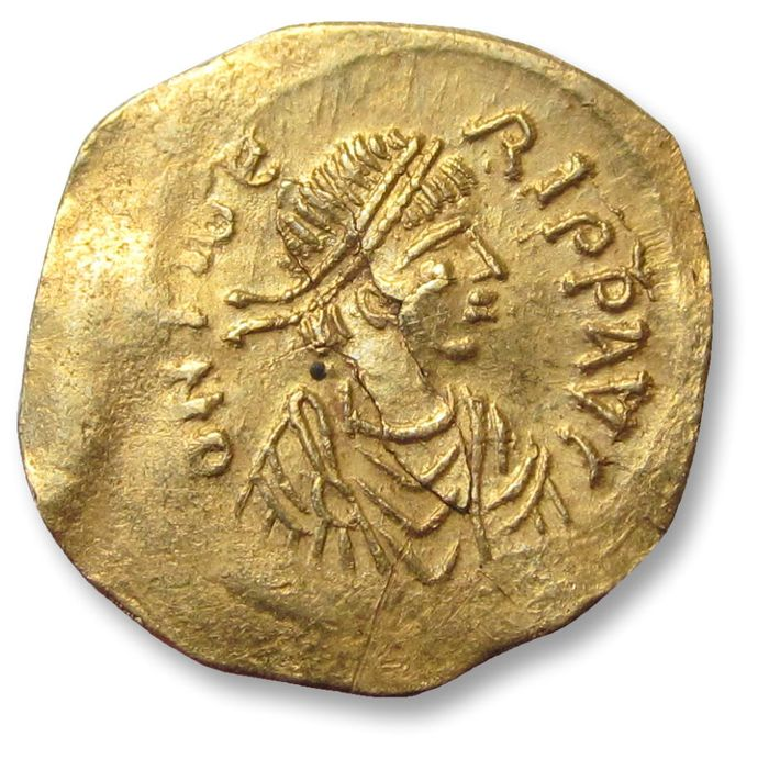 Empire byzantin - AV gold tremissis Maurice Tiberius. Constantinople mint 582-602 A.D. - sharply struck, but small flan cracks - - Or