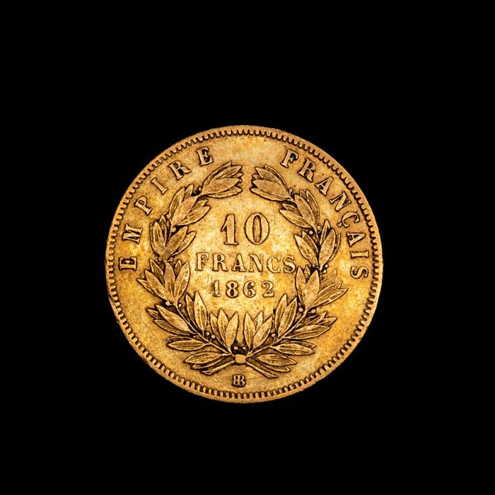 10 Francs 1862-BB Napoleon III - Or