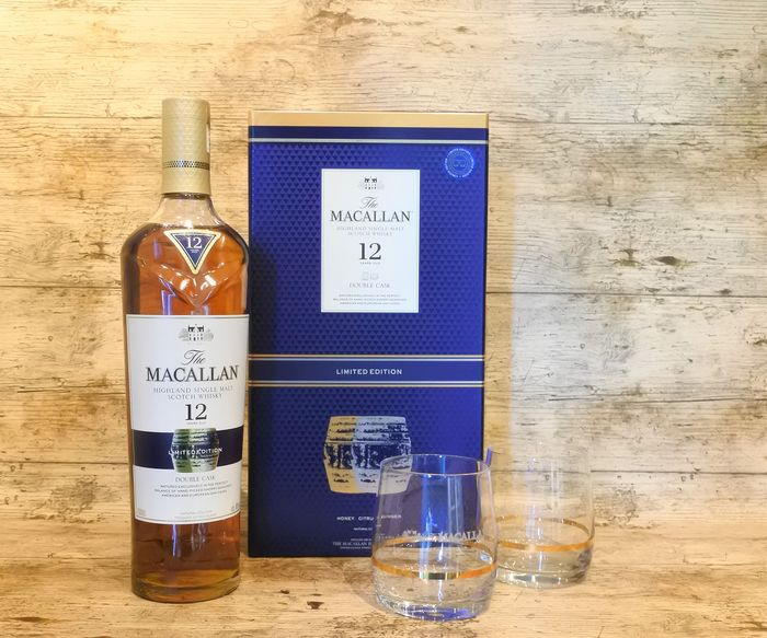Macallan 12 Double Cask in Giftbox with 2 glasses - Limited Edition - 700ml