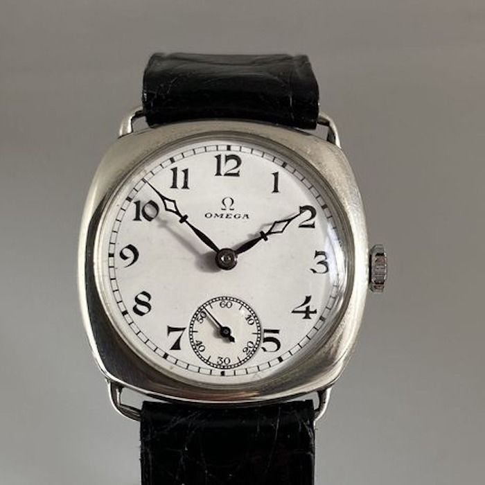 "Omega - ""Cushion"" 1930s Ceramic Dial  - Silver Case - ""NO RESERVE PRICE"" - 7370744 - Unisexe - 1901-1949"