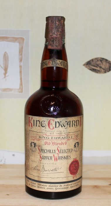 King Edward I Old Blended Specially Selected - b. Década de 1960 - 75 cl