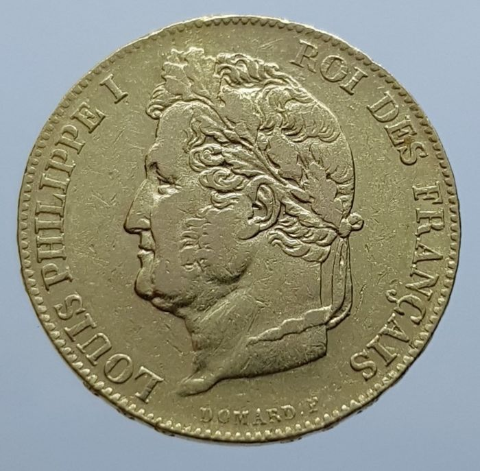 France - 20 Francs 1840-A Louis Philippe I - Or