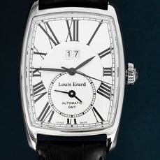 Louis Erard - 1931 Automatic Swiss Made Dual Time Steel - 94210AA21.BDC51 - Men - Brand New