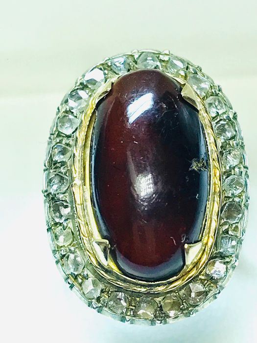 18 kt Gold, zweifarbig - Ring Diamant - AMBER