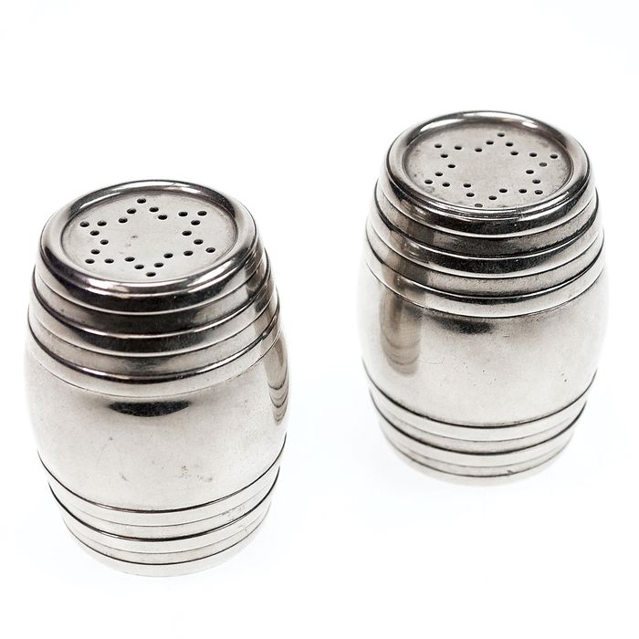 Salt and pepper shakers (2) - .925 silver - England - 1900