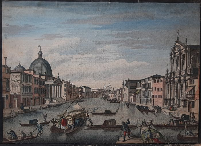 Italien, Venetië; John Bowles & Son - View on The Grand Canal of Venice (...) - ca. 1755
