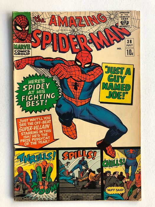 The Amazing Spider-Man #38 - 2nd Appearance Of Mary jane Watson - Face Still Not Shown - Mid Grade!!! - Capa mole - Primeira edição - (1966)