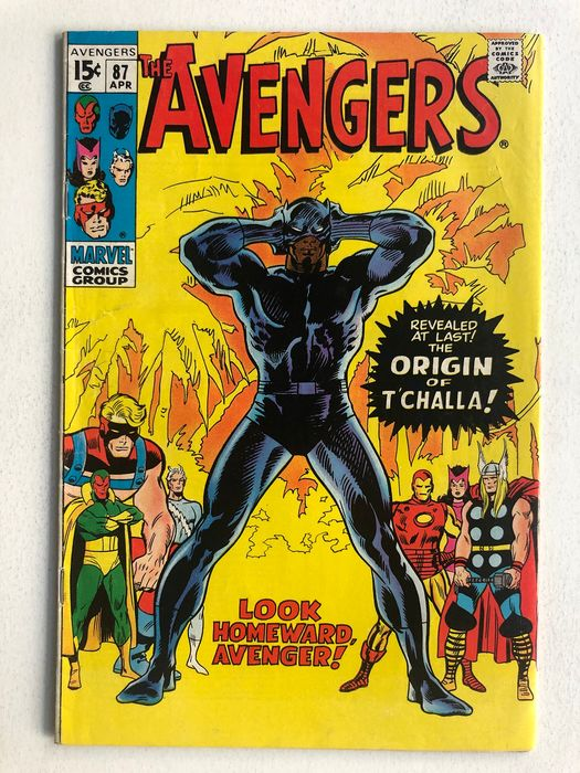 The Avengers #87 - Origin Black Panther - Higher Grade!! - Key Book!! - Capa mole - Primeira edição - (1971)