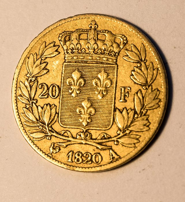 20 Francs 1820-A Louis XVIII - Or